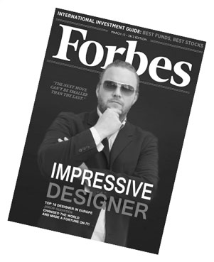 Picture of Jakob Gudiksen on the frontpage of Forbes
